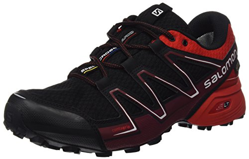 Herren Speedcross Vario GTX Traillaufschuhe, Schwarz (Black/Radiant Red/Brique-x), 40 2/3 EU Salomon