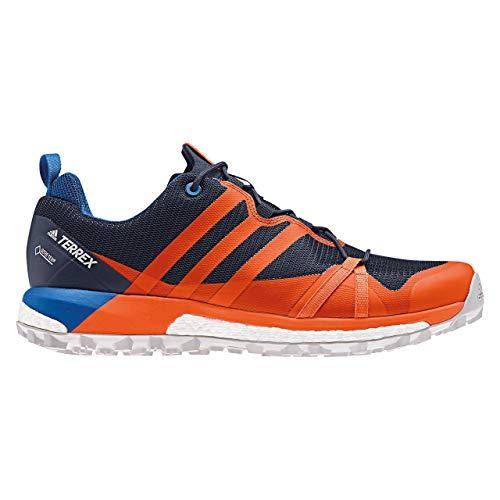 adidas Herren Terrex Agravic GTX Trekking- & Wanderhalbschuhe, Blau-Orange