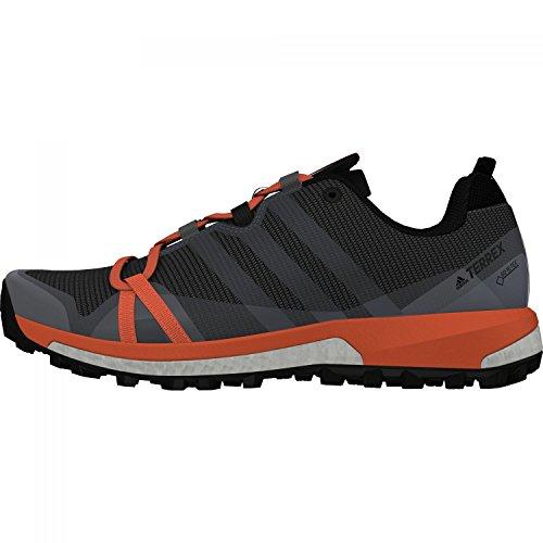 adidas Damen Terrex Agravic GTX Trekking-& Wanderhalbschuhe, Grau-Orange