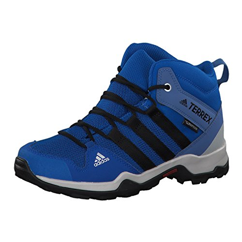 adidas Unisex-Kinder Terrex AX2R MID Climaproof Trekking-& Wanderstiefel, Blau