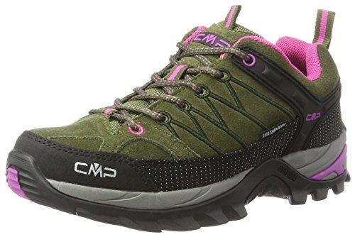 CMP Damen Rigel Low WP Trekking- & Wanderhalbschuhe, Grün-Pink